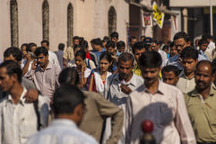 Indian commuters in the morning near Victoria Terminus Royalty Free Stock Photos