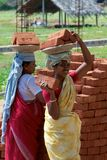 Indian construction labourers Stock Photo
