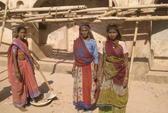 Indian Construction Workers Stock Photo