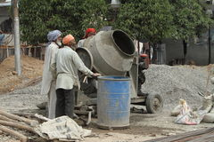 Indian construction workers Royalty Free Stock Photography