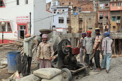 Indian construction workers Stock Image