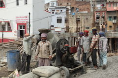 Indian construction workers Stock Photography