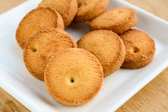 Osmania biscuits. Indian cookies,made from flour,cumin and salt.Also known as Osmania cookies from Hyderabad Royalty Free Stock Photos