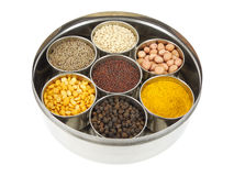 Indian Cooking Ingredients. Ingredients used for seasoning of some Indian food Royalty Free Stock Photos