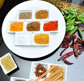 Indian and cooking spices Royalty Free Stock Image