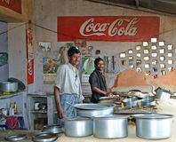 Indian cooks and Coca Cola Stock Images