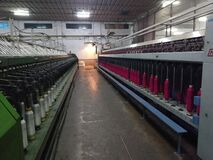 A Indian cotton Mills  factory's simplex machine.