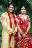 Indian Couple. An indian couple in their traditional attire posing in wedding Stock Photography