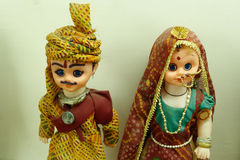 Indian Couple cloth Doll Stock Images