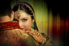 Indian Couple. An Indian couple dressed up in traditional indian clothing Royalty Free Stock Images