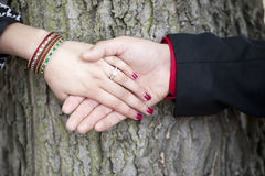 Indian Couple Engagement Hands Royalty Free Stock Photography