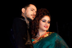 Indian couple, fashion show Stock Images