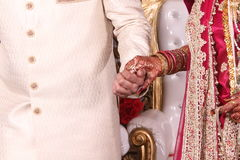 Indian couple holding hands Royalty Free Stock Photos