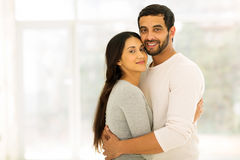 Indian couple hugging Royalty Free Stock Photos