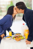 Indian couple kissing Stock Image