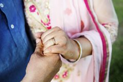 Indian Couple Love Care Concept Royalty Free Stock Photography