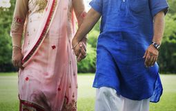 Indian Couple Love Care Concept Stock Photos