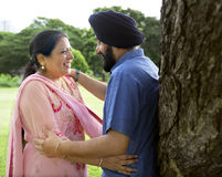 Indian Couple Love Care Concept Stock Photography