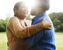 Indian Couple Love Care Concept. Indian Romantic Couple Love Outdoor Royalty Free Stock Photo