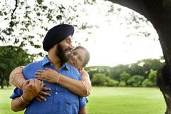 Indian Couple Love Care Concept Royalty Free Stock Images