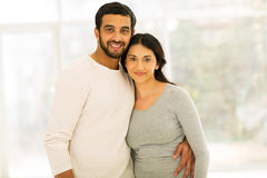 Indian couple. Lovely indian couple portrait indoors Royalty Free Stock Photos