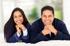 Indian couple lying Stock Image