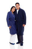 Indian couple pajamas Royalty Free Stock Photography