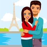 Indian Couple Paris Royalty Free Stock Images
