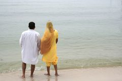 Indian Couple at seaside Royalty Free Stock Photos