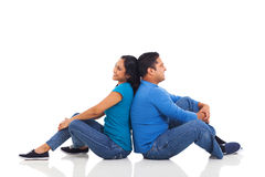 Indian couple sitting Royalty Free Stock Photo