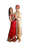 Indian couple in traditional wear. Royalty Free Stock Images