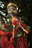 Indian craft. Colorful puppet with indian theme, handcrafted Royalty Free Stock Photography