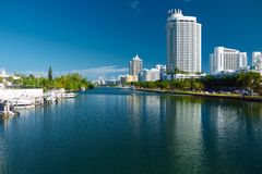 Indian Creek in Miami Beach Florida Royalty Free Stock Photography