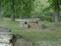 Indian Creek Roadside Park, Lanagan, MO, picnic table Royalty Free Stock Images