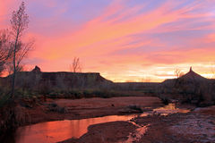 Indian creek sunset Stock Images