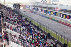 Indian Crowd watching truck racing Royalty Free Stock Images