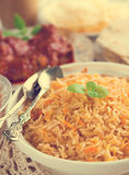 Indian cuisine biryani rice stock images