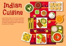 Indian cuisine dishes and snacks Stock Photos