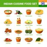 Indian Cuisine Food Set Royalty Free Stock Image