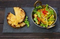 Indian cuisine, healthy vegan and vegetarian food Stock Image
