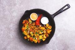 Indian cuisine. Paneer Tikka Kabab. Asian salad. Top view stock photos