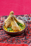 Indian cuisine: roasted chicken with rice Royalty Free Stock Photos