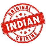 Indian cuisine vector stamp Stock Photos