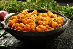 Vegetarian food potato curry dish Stock Photography