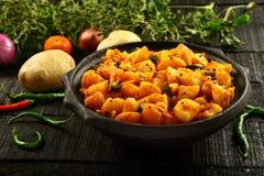 Vegetarian food potato curry dish