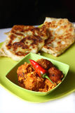 Indian cuisine, vegetarian paratha,kofta stock photography
