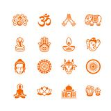 Indian culture icons || MICRO series stock images