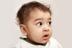 indian curious  boy baby Royalty Free Stock Image
