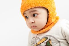 Indian curious  boy baby Stock Photo