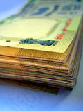 Indian Currency_05. A stack of five hundred rupees Indian currency notes Stock Image